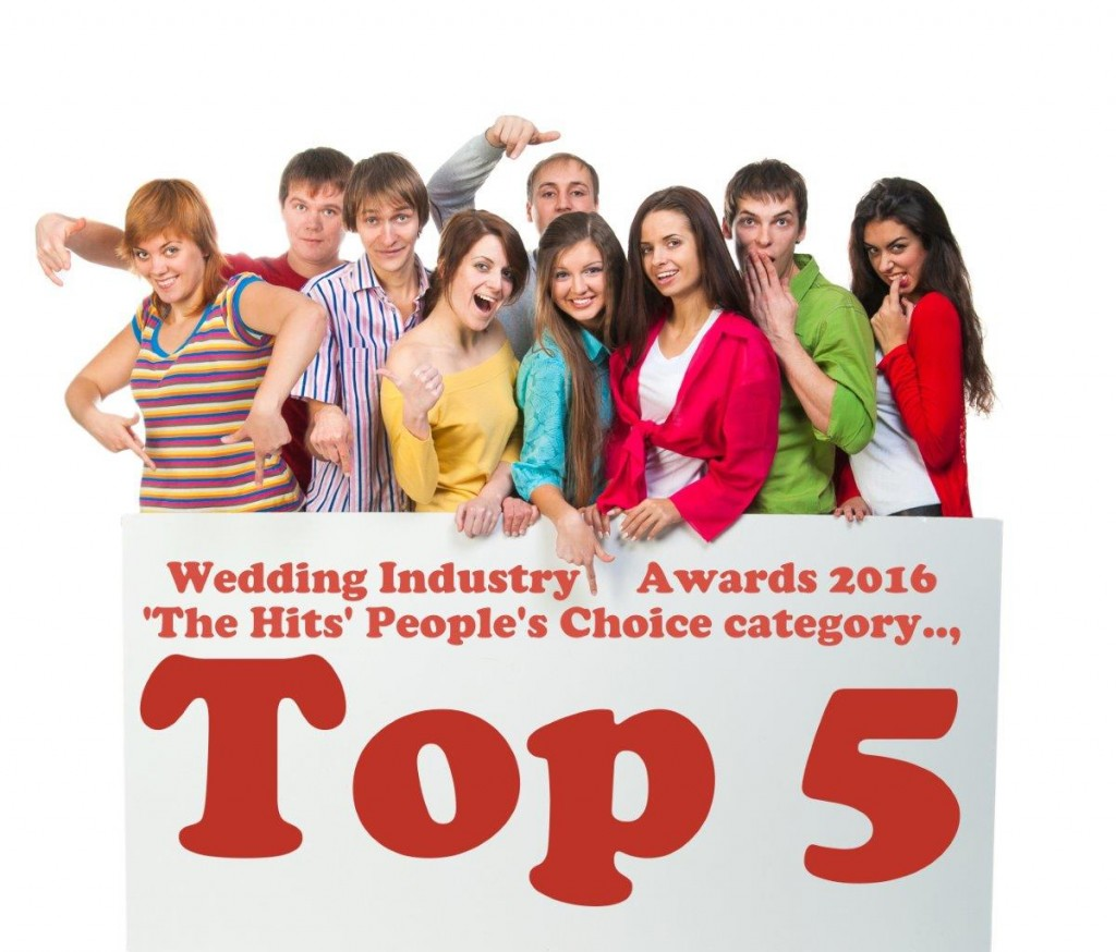 2016 Wedding Industry Awards People's Choice category TOP 5 smaller version 26032016
