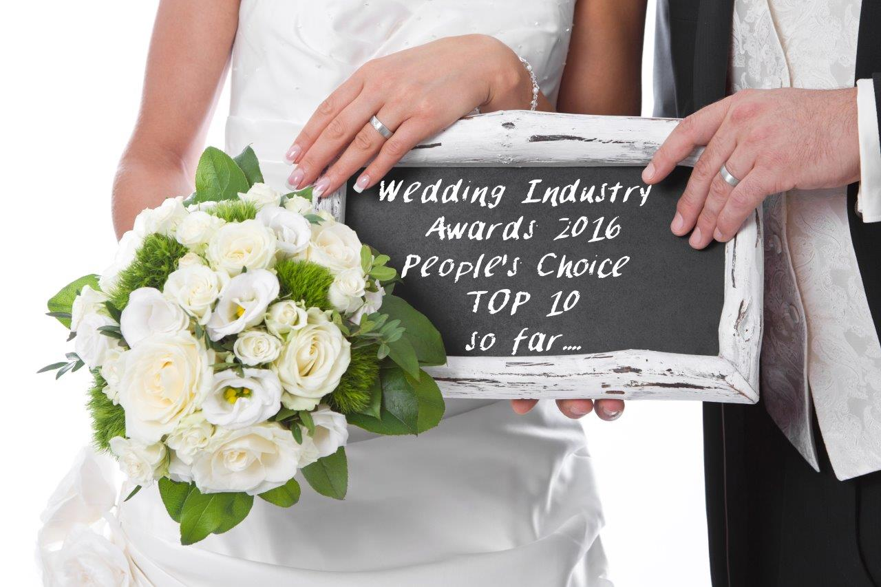 Wedding Industry Awards PEOPLES CHOICE TOP 10 So Far smaller version as at 19032016