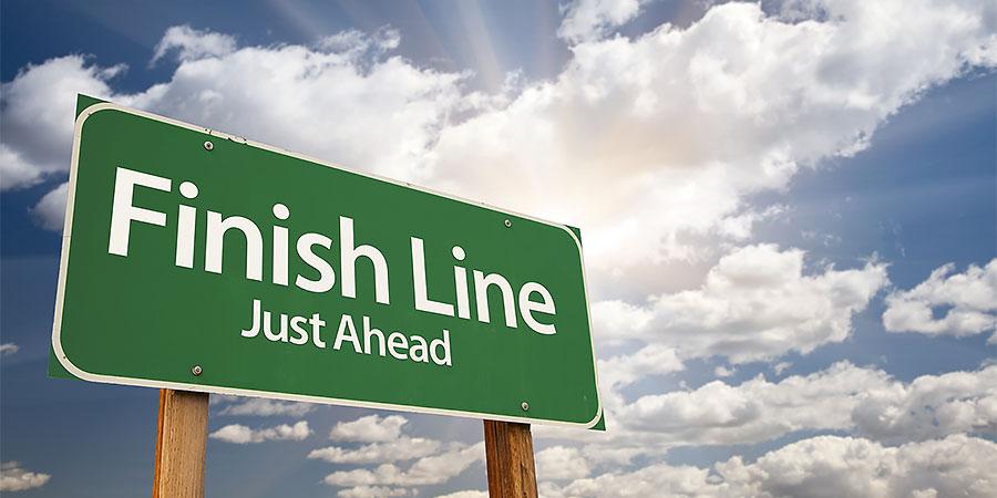 Finish Line Sign